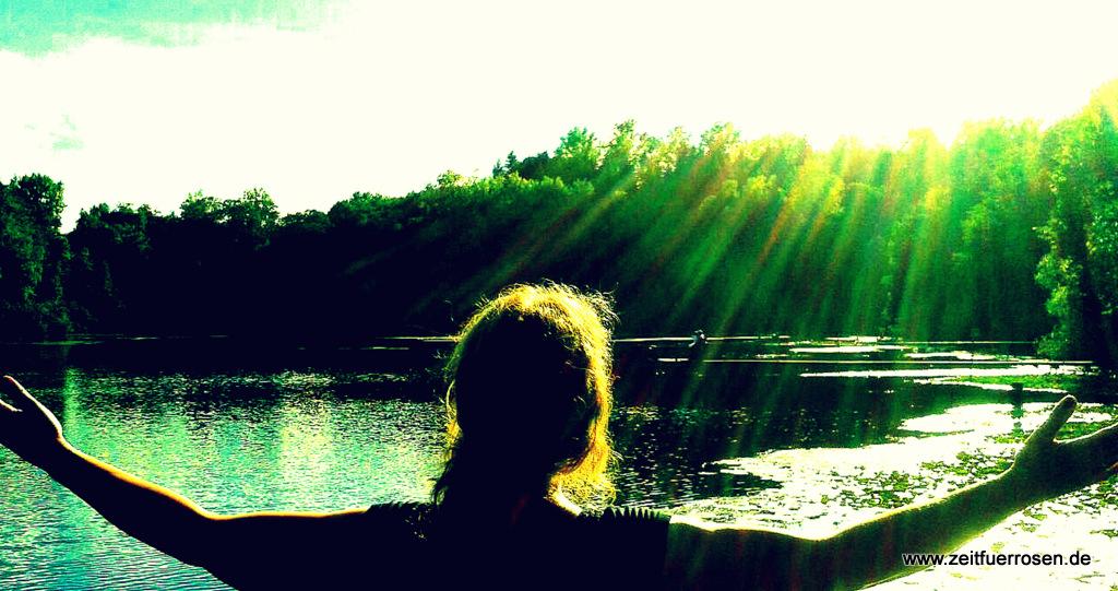 Rausgehen und Sonnenhormone tanken