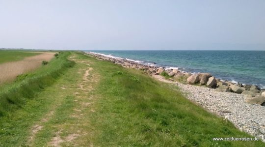 Spaziergang über den Deich im Osten von Fehmarn