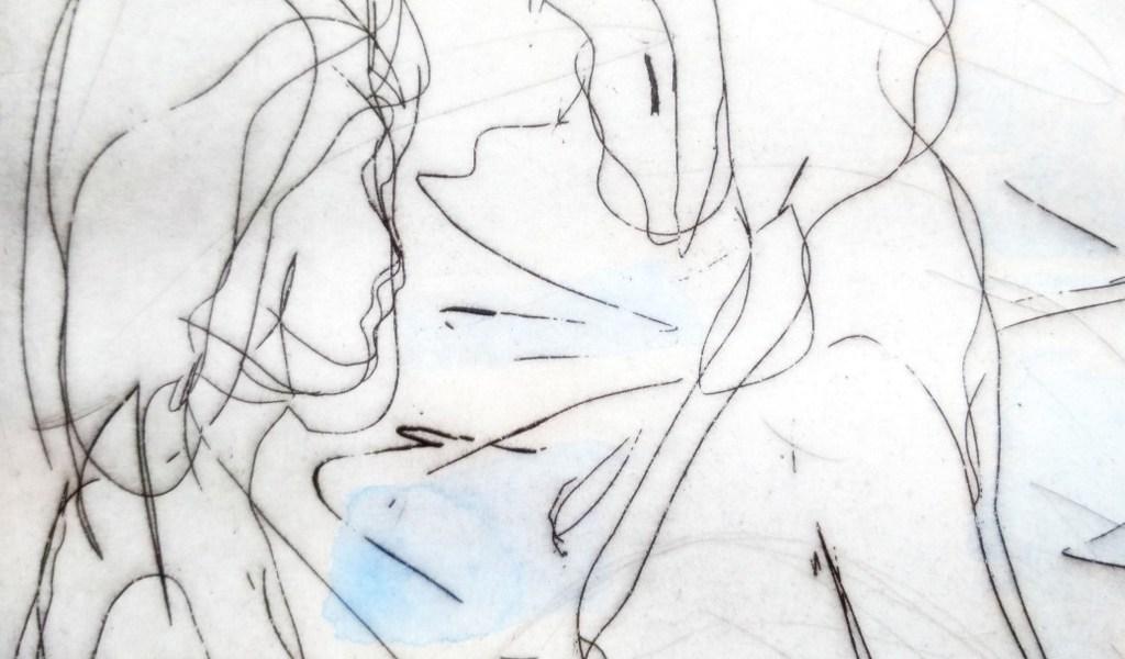 Frauen im Bad - Druck von Klaus Sievers