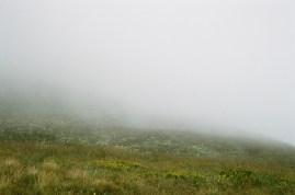 Abwärts durch den Nebel