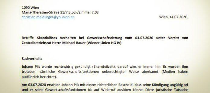 Stellungnahme von Younion-Vorsitzendem Meidlinger eingefordert