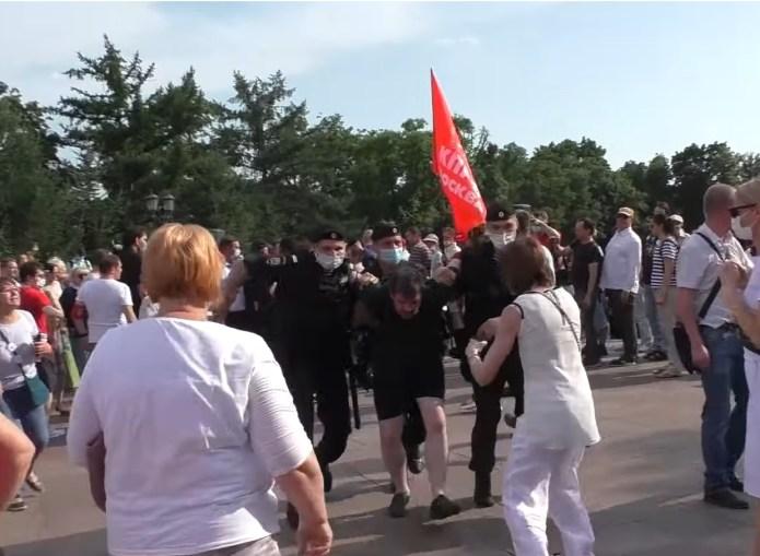 Kundgebung der KPRF von Polizei überfallen