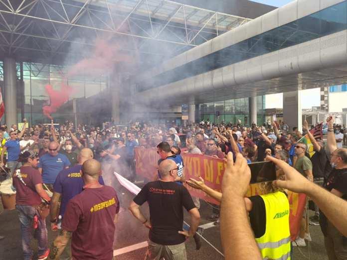 Streik in der italienischen Luftfahrtindustrie