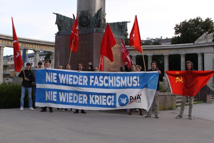 Kundgebung zum Antikriegstag inWien