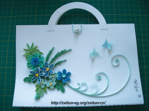 Quilled Handmade Cards ZeitunQuilling