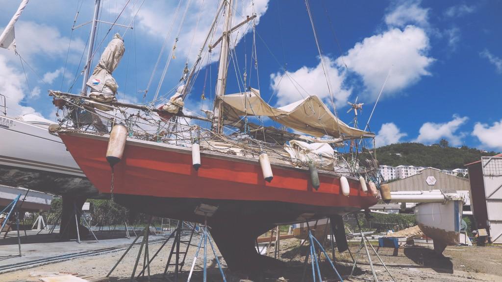 Blogeintrag 6_2 Das 7,5 Meter kleine Boot von Marco