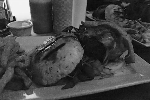 The burger at Mechant Boeuf, photo by Ed Hawco