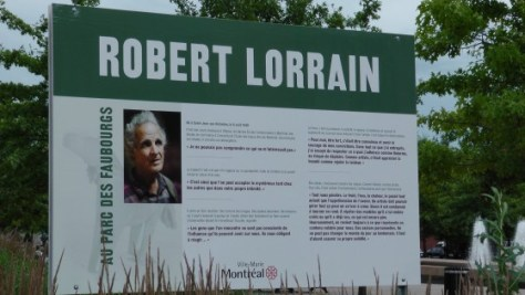 Didactic Panel for Robert Lorrain Exhibit at Parc des Faubourgs
