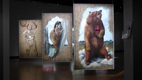 Cible I, Cible II and Cible III, L'Ours, Le Raton (sic) and La Femme au Bois by Diane Dubeau