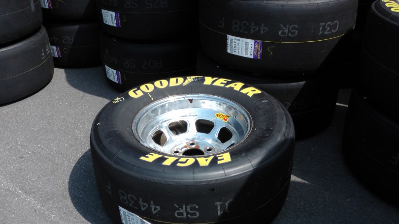 Another tire at The Napa Auto Parts 200 presented by Dodge
