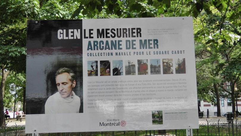 The Pedagogic Panel for Glen Le Mesurier's Arcane de Mer.