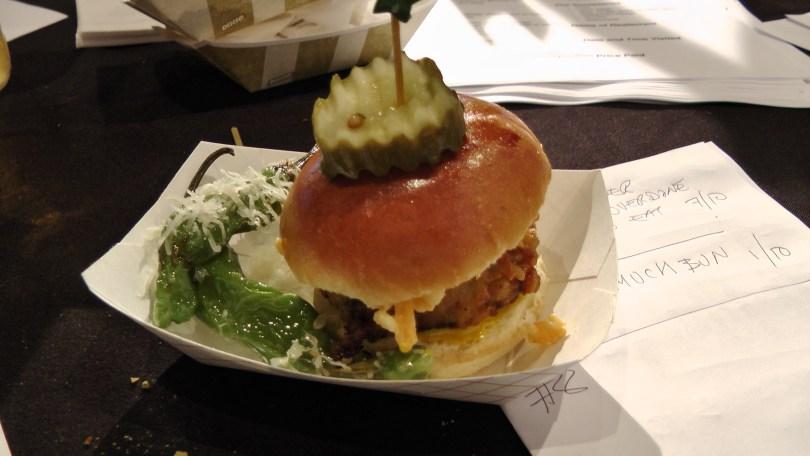 From Kitchenette: Fried chicken chili cheeseburger