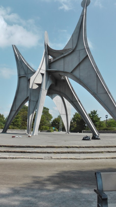 Alexander Calder's Man, Three Disks (L'Homme) at Parc Jean Drapeau on Île Sainte-Hélène