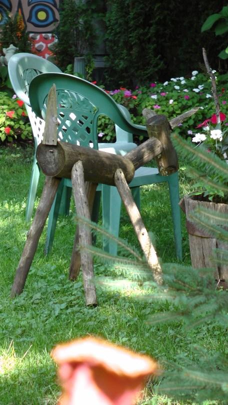 Sculpture in a garden on Rosemont ave.