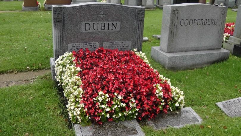 The Dubin's monument at The Baron de Hirsch Cemetery