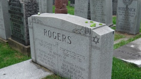 Ida and Max Rogers' monument at The Baron de Hirsch Cemetery