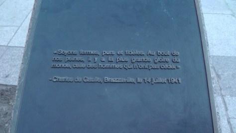 Western Plaque for Obélisque en hommage à Charles de Gaulle by Olivier Debré