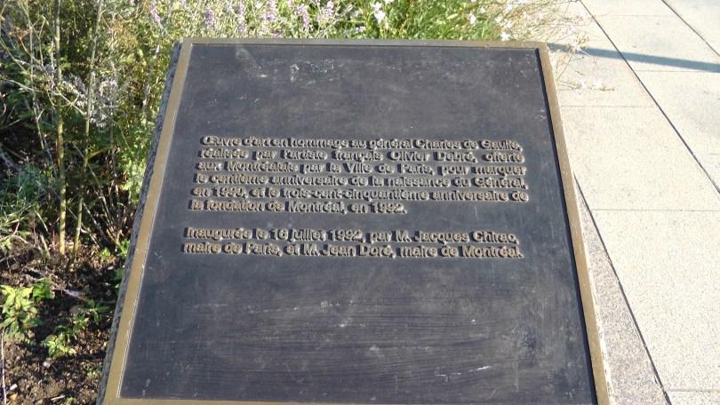 Eastern Plaque for Obélisque en hommage à Charles de Gaulle by Olivier Debré