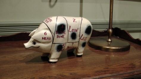 A wooden pig.