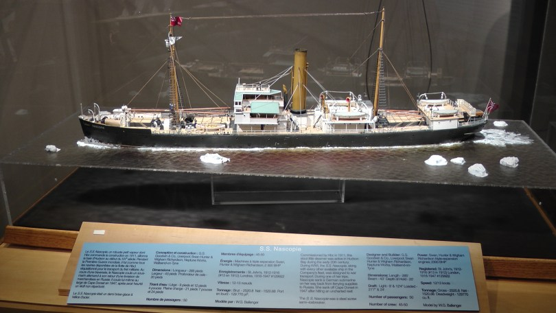 Cool model of the S.S. Nascopie.