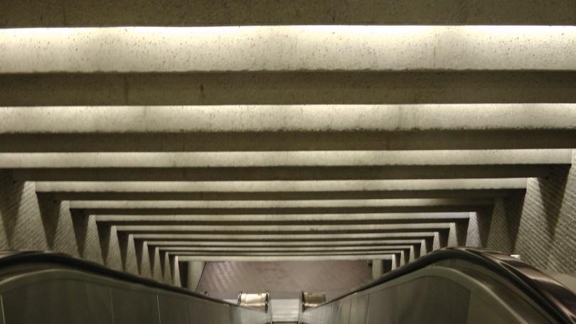 Descending the escalator