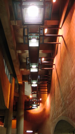 A series of industrial light fixtures.