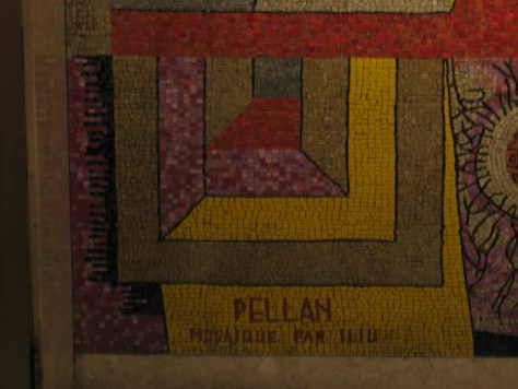 Alfred Pellan mosaic at 1450 City Councillors