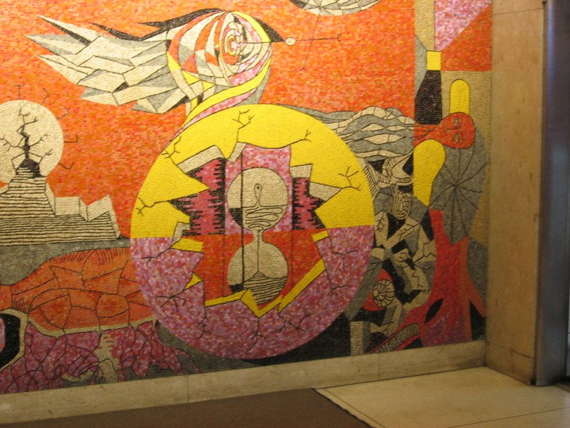 Alfred Pellan mosaic at 1450 City Councillors