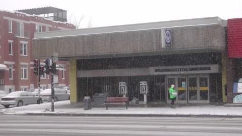 The northern entrance to Métro Joliette.