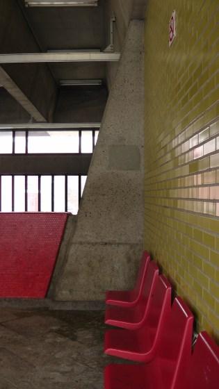 Inside the southern entrance to Métro Joliette.