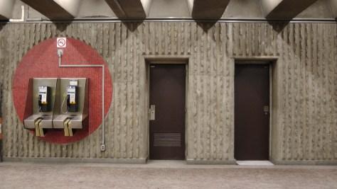 More of the corridor at the Métro Joliette.