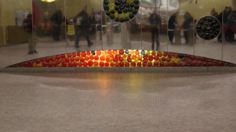 Detail of Thème des mouvements du soleil by Marcel Raby at the Métro Joliette.