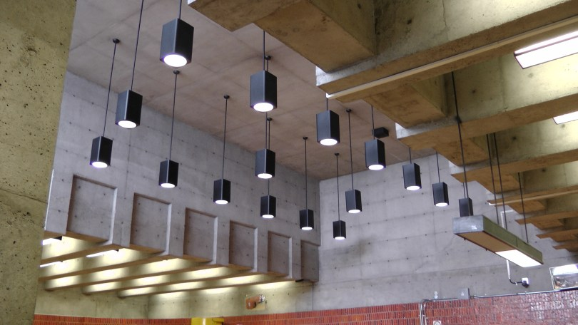 The light fixtures at the Métro Charlevoix