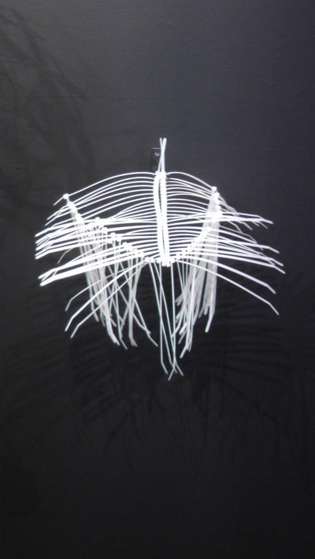 Elisabeth Picard, Macro organismes, 2011-2012, zip ties, painted steel hooks