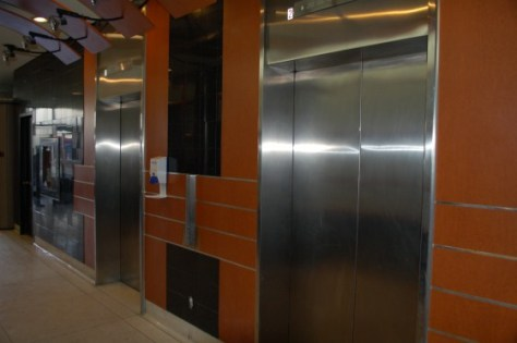 An elevator in Montreal