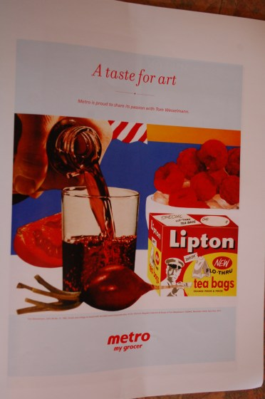 Advertisement in the Musée des beaux-arts de Montréal's magazine M