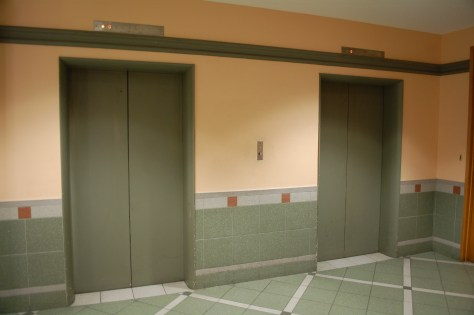 The elevators at 990 Saint Antoine