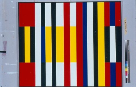 "Sans titre, Acrylic on Canvas, 55"" x 66"", 1961/63"