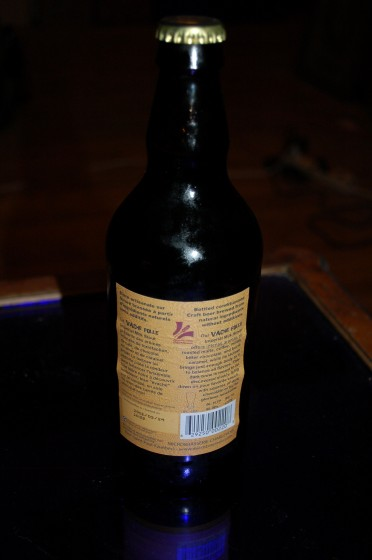 La Vache Folle Imperial Milk Stout (back label)