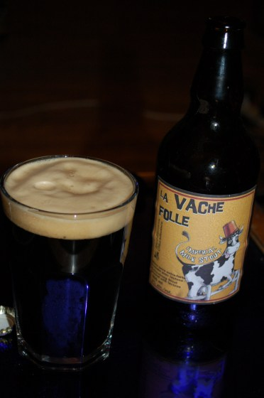 La Vache Folle Imperial Milk Stout (in the glass)