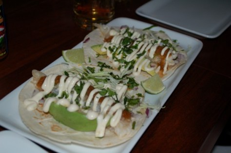 Baja fried fish tacos from Restaurant Cartel