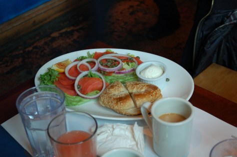 Bagel and Lox at Eggspectations