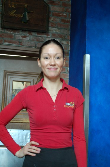 Yana, our server at Eggspectations