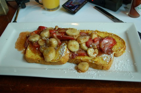 French Toast Flambé at Eggspectations