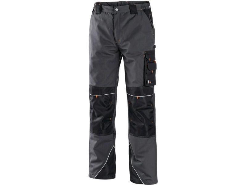 Sklep BHP Zeker - spodnie robocze CXS Sirius Nikolas szaro-pomarańczowe