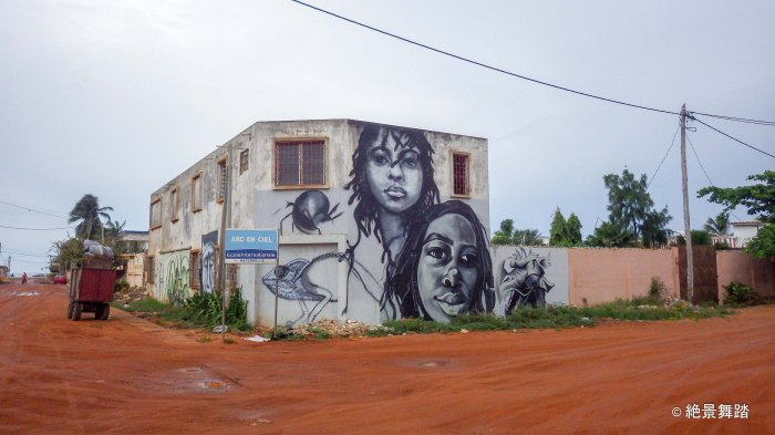 壁画アートがチラホラ