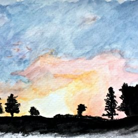 Sunrise Watercolor