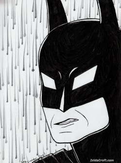 Batman Inktober 2016 Day One