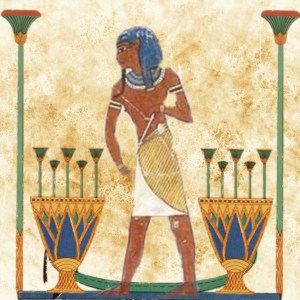 Egyptian Blue on Painted Wall
