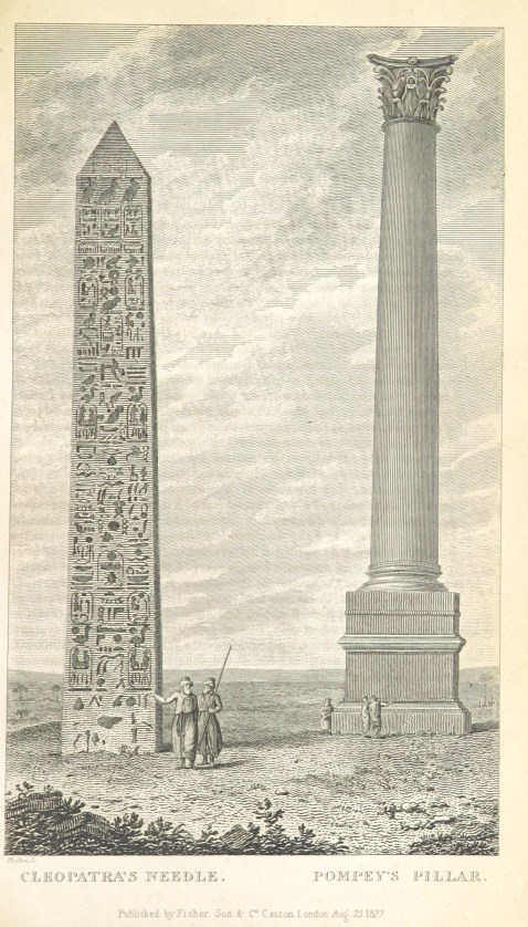 cleopatras-needle-and-pompeys-column-1827